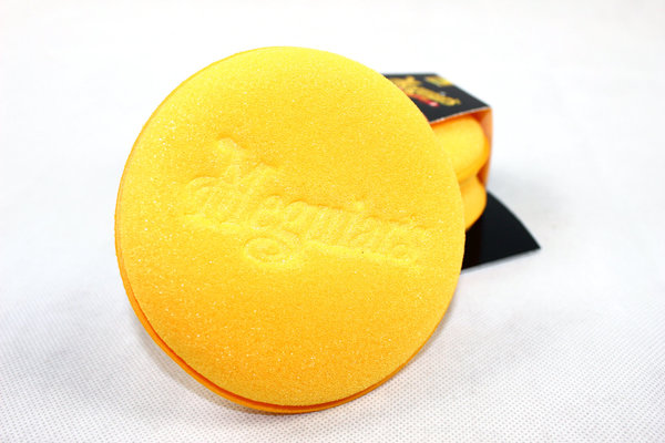 Meguiars Soft Foam Applicator Pads 2er Pack X3070 Gelb Schaumstoff Schwamm